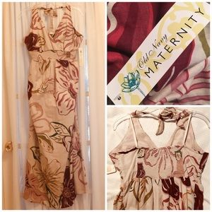Beautiful floral maternity maxi dress